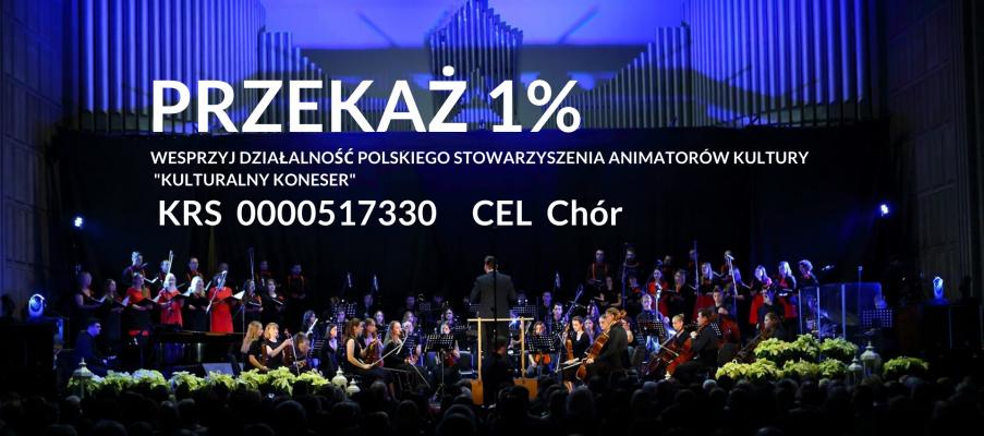 Przekaż 1% na działalność Kulturalnego Konesera