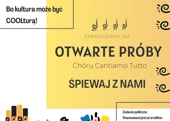 Otwarte próby Chóru Cantiamo Tutto
