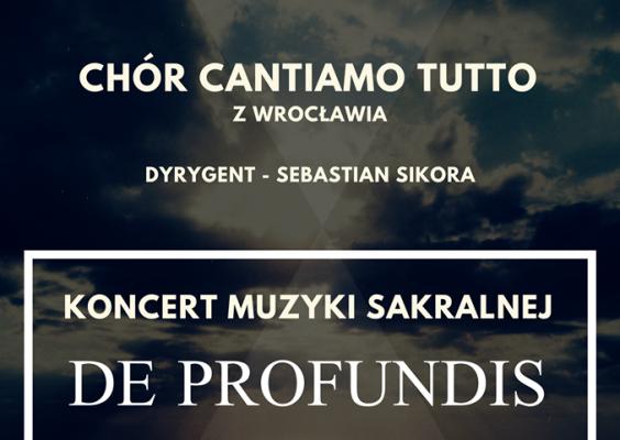 """Koncert Muzyki Sakralnej """"De Profundis"""" w Polanicy-Zdroju"""